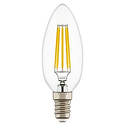 933504 Лампа LED FILAMENT 220V C35 E14 6W=65W 400-430LM 360G CL 4000K 30000H (в комплекте)