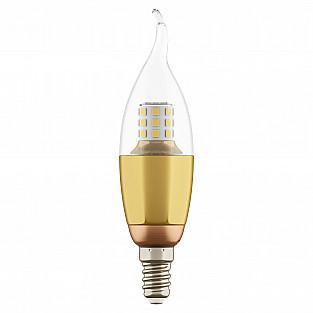 940622 Лампа LED 220V CA35 E14 7W=70W 460LM 60G CL/GD 3000K 20000H (в комплекте)