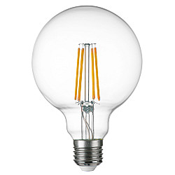 933104 Лампа LED FILAMENT 220V G95 E27 8W=80W 720LM 360G CL 4000K 30000H (в комплекте)