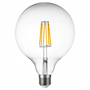 933204 Лампа LED FILAMENT 220V G125 E27 10W=100W 920LM 360G CL 4000K 30000H (в комплекте)