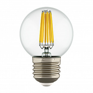933822 Лампа LED FILAMENT 220V G50 E27 6W=65W 400-430LM 360G CL 3000K 30000H (в комплекте)