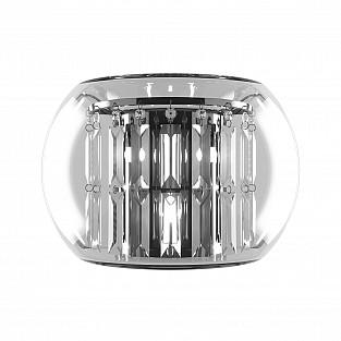 753634 (MB7603-3А) Бра ACQUARIO 3х20W G4 12V ХРОМ хрусталь+стекло (в комплекте)