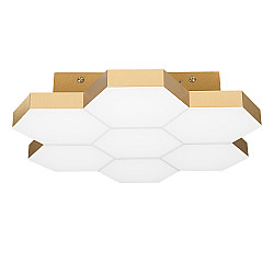750071 (MX13003032-7А) Люстра потол FAVO LED-35W 1680LM Satin Gold 3000K (в комплекте)