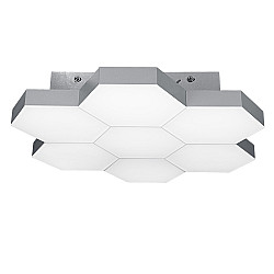 750072 (MX13003032-7А) Люстра потол FAVO LED-35W 1680LM Silver 3000K (в комплекте)