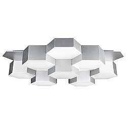750164 (MX13003032-16А) Люстра потол FAVO LED-80W 3840LM Silver 4000K (в комплекте)