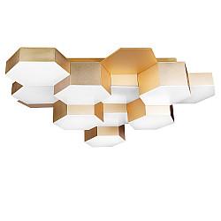 750121 (MX13003032-12А) Люстра потол FAVO LED-60W 2880LM Satin Gold 3000K (в комплекте)
