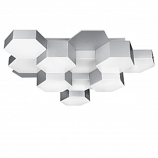 750122 (MX13003032-12А) Люстра потол FAVO LED-60W 2880LM Silver 3000K (в комплекте)