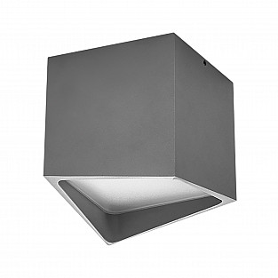214479 Светильник QUADRO LED 12W 960LM СЕРЫЙ 4000K IP55 (в комплекте)