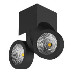 055374 Светильник SNODO LED 2*10W 1960LM 23G ЧЕРНЫЙ 4000K IP20 (в комплекте)