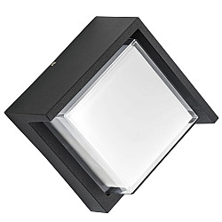 382273 Светильник PALETTO QUAD LED 15W 550LM 180G ЧЕРНЫЙ 3000K IP54 (в комплекте)