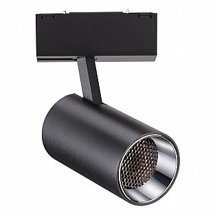 358068 NT19 006 черный Трековый светильник IP20 LED 4000К 12W 24V KIT