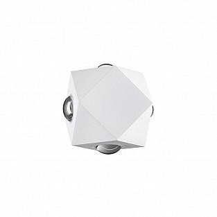 4219/8WL HIGHTECH ODL21 бел/металл Настенный светильник IP54 LED 8W 732Лм 3200K DIAMANTA