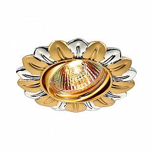 369819 NT12 364 хром/золото Встраиваемый ПВ светильник IP20 GX5.3 50W 12V FLOWER