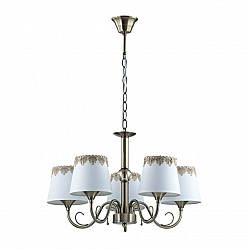 2998/5 LN16 164 бронзовый/декор. стекло/ткань Люстра Е14 5*40W 220V PLACIDA