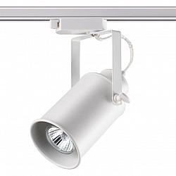 370411 NT19 185 белый Трековый светильник IP20 GU10 50W 220V PIPE
