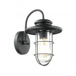 4171/1W ODL19 310 черный/прозрачный Уличный настенный светильник IP44 E27 1*60W HELM