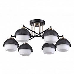 4456/6C LN20 157 черный, бронза, белый Люстра потолочная E14 6*60W 220V JADE
