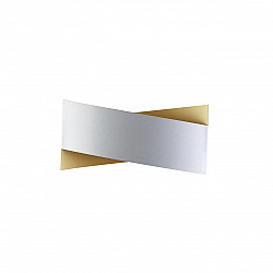 4214/18WL HIGHTECH ODL21 серебр/золот/металл Настенный светильник IP20 LED 18W 900Лм 3000K TWISTY