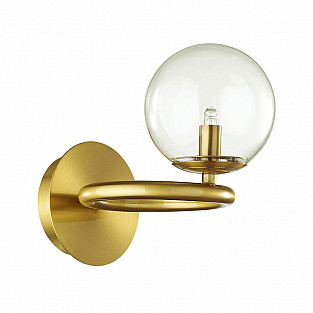 4276/1W MODERN ODL21 207 прозр/стекло/золотистый Настенный светильник IP20 G9 1*40W NUVOLA