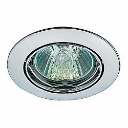 369101 NT09 366 хром Встраиваемый светильник IP20 GX5.3 50W 12V CROWN