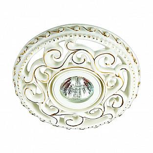 370198 NT16 260 белый/золото Встраиваемый декоративный светильник IP20 GX5.3 50W 12V OLA