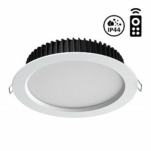 358310 NT19 000 белый Встраиваемый диммируемый св-к с пультом ДУ IP44 LED 3000-6500K 20W 85-265V DRU