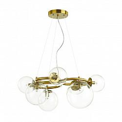 4276/7 MODERN ODL21 207 прозр/стекло/золотистый Подвесной светильник IP20 G9 7*40W NUVOLA