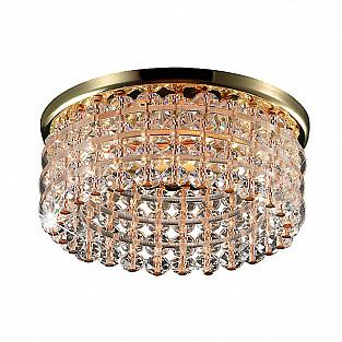 369442 NT09 291 золото/прозрачный Встраиваемый светильник GX5.3 50W 12V PEARL ROUND