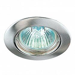 369103 NT09 366 никель Встраиваемый светильник IP20 GX5.3 50W 12V CROWN