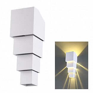 358005 NT19 230 белый Ландшафтный светильник IP54 LED 3000К 2*5W 85-265V KAIMAS