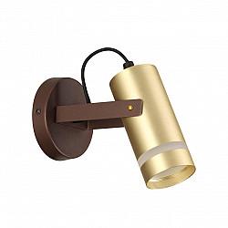 4444/1W LN20 045 коричневый, золотой Бра GU10 1*5W 220V HARPER