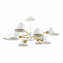 4465/8C LN20 054 белый, золотой Люстра потолочная E14 8*60W 220V KENIA