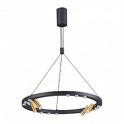3918/48L ODL20 39 черный/золотистый/металл Подвесной светильник LED 48W 4000K BEVEREN