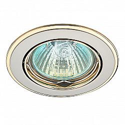 369105 NT09 366 никель/золото Встраиваемый светильник IP20 GX5.3 50W 12V CROWN