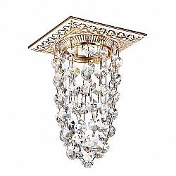 369994 NT15 224 белый/золото/хрусталь Встраиваемый светильник IP20 GX5.3 50W 12V GRAPE