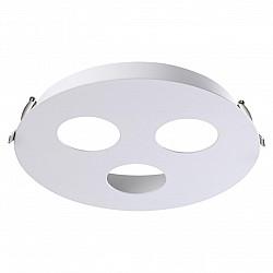 370566 NT19 036 белый Встраиваемый светильник IP20 GU10 3*50W 220-240V CARINO