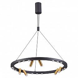 3918/63L ODL20 38 черный/золотистый/металл Подвесной светильник LED 63W 4000K BEVEREN