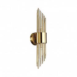 4847/2W HALL ODL21 335 золото/металл/стекло Бра G9 2*40W FLAMBI