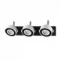 3490/3W ODL18 093 белый с черным Настенный светильник IP20 GU10 3*50W 220V SATELIUM