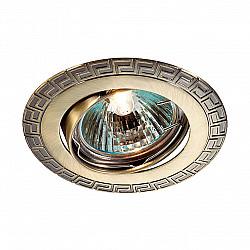 369615 NT12 372 бронза Встраиваемый ПВ светильник IP20 GX5.3 50W 12V COIL