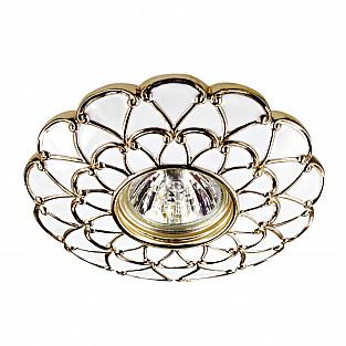 370223 NT16 239 белый/золото Встраиваемый декоративный светильник IP20 GX5.3 50W 12V PATTERN