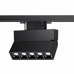 358325 NT19 000 черный Однофазный трековый светильник IP33 LED 4000К 13W 110-265V EOS