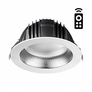 358335 NT19 000 белый/серебро Встраиваемый диммируемый св-к с пультом ДУ IP20 LED 2700~5000К 24W 220