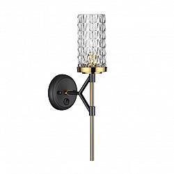 4225/1W MIDCENT ODL21 223 черн/золот/металл Настенный светильник IP20 1*E14 60W VITTORIA