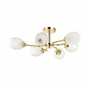 4546/6C COMFI LN21 048 золотой, белый Люстра потолочная E27 6*60W 220V JOLENE