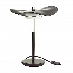 4859/10TL L-VISION ODL_EX21 никель/черный/стекло Настольная лампа LED 1*13W 4000K FLUENT