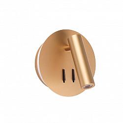 3913/9WL ODL20 243 золотистый/металл Настенный светильник с лампой для чтения LED 3000K 9W 220V BEAM