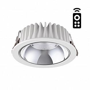 358296 NT19 000 белый Встраиваемый диммируемый светильник с пультом ДУ IP20 LED 3000-6500K 7W 220-24