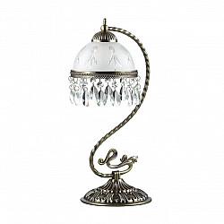2989/1T LN16 185 бронзовый/стекло/хрусталь Настольная лампа E27 60W 220V AVIFA