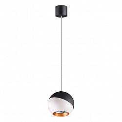 358155 NT19 000 черный/белый/золото Подвесной светильник IP20 LED 4000K 6W 220V BALL